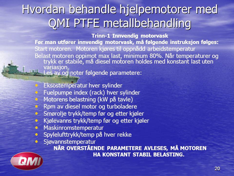 Hvordan behandle hjelpemotorer med QMI PTFE metallbehandling