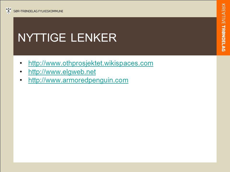 NYTTIGE LENKER http://www.othprosjektet.wikispaces.com