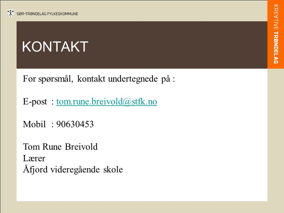 kontakt yrkesfag online