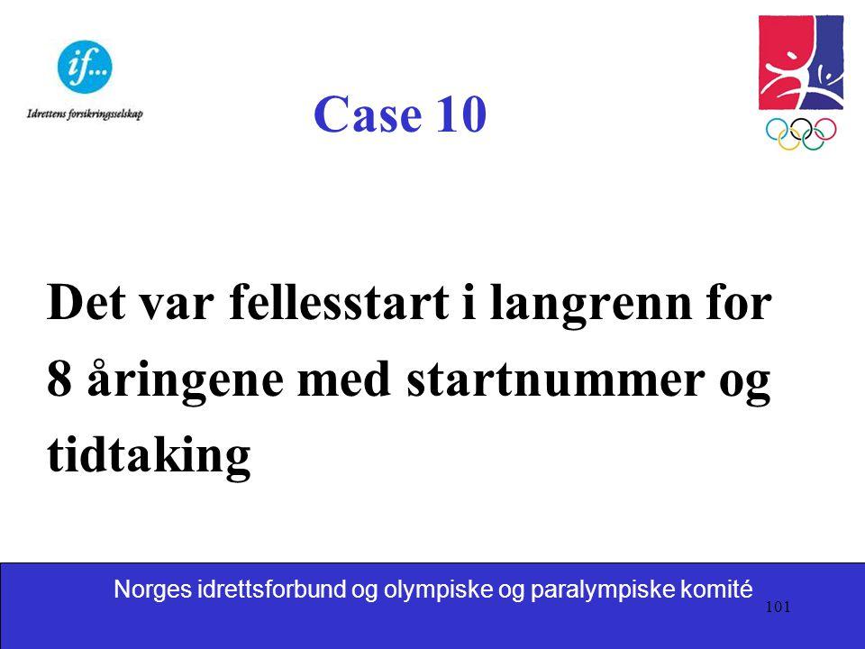 Case 10 Det var fellesstart i langrenn for 8 åringene med startnummer og tidtaking