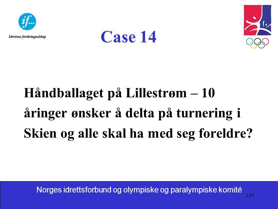Case 14 Håndballaget på Lillestrøm – 10