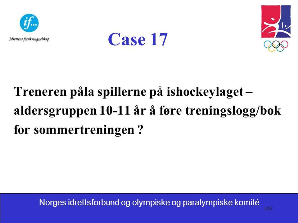 Case 17 Treneren påla spillerne på ishockeylaget –