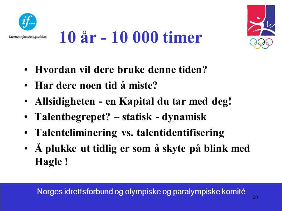 10 år - 10 000 timer Hvordan vil dere bruke denne tiden