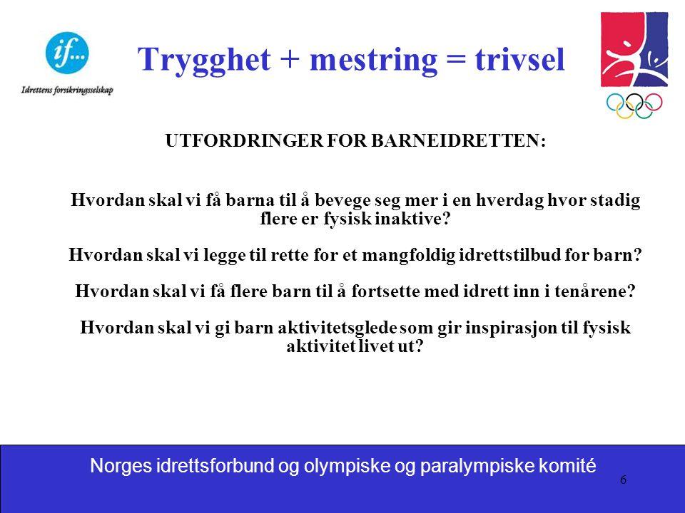 Trygghet + mestring = trivsel