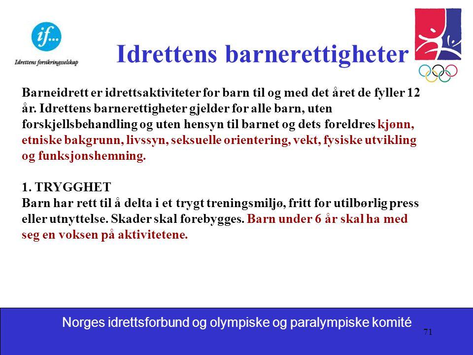 Idrettens barnerettigheter