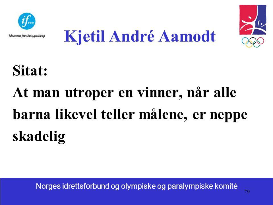 Kjetil André Aamodt Sitat: At man utroper en vinner, når alle