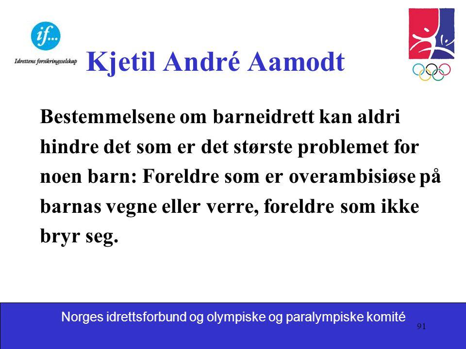 Kjetil André Aamodt Bestemmelsene om barneidrett kan aldri