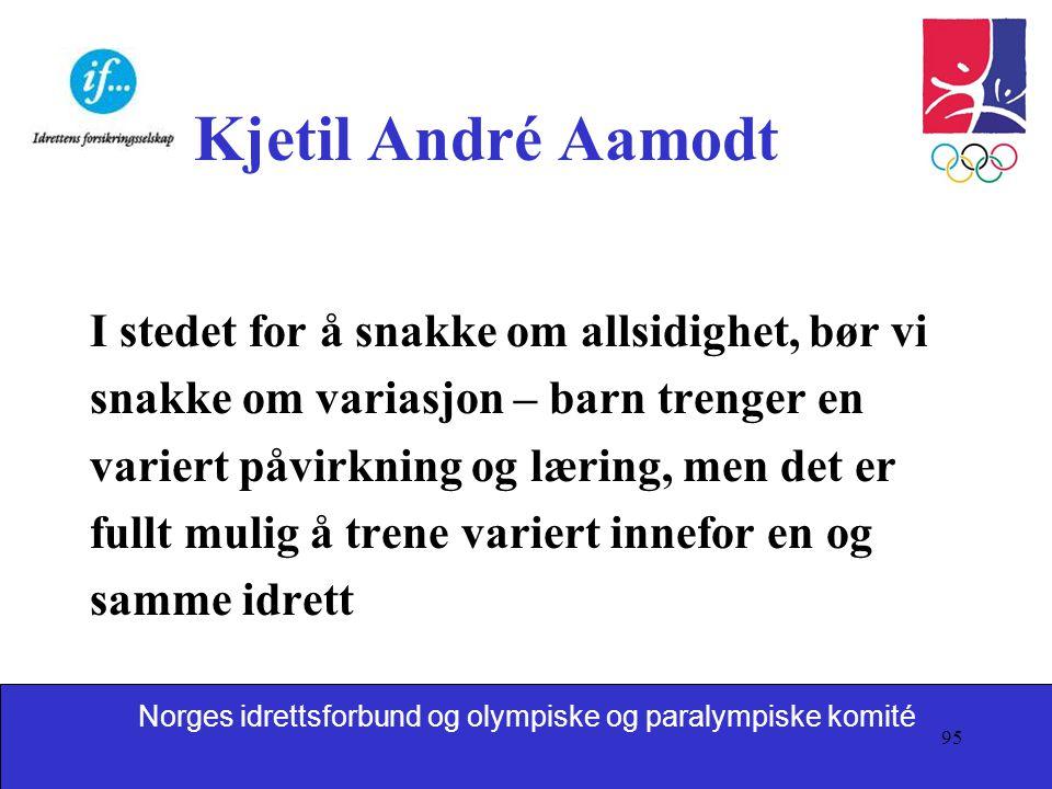 Kjetil André Aamodt I stedet for å snakke om allsidighet, bør vi