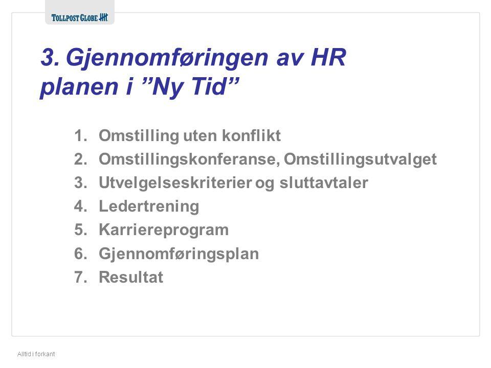 3. Gjennomføringen av HR planen i Ny Tid