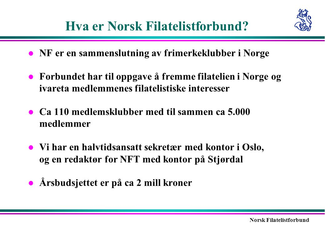 Hva er Norsk Filatelistforbund