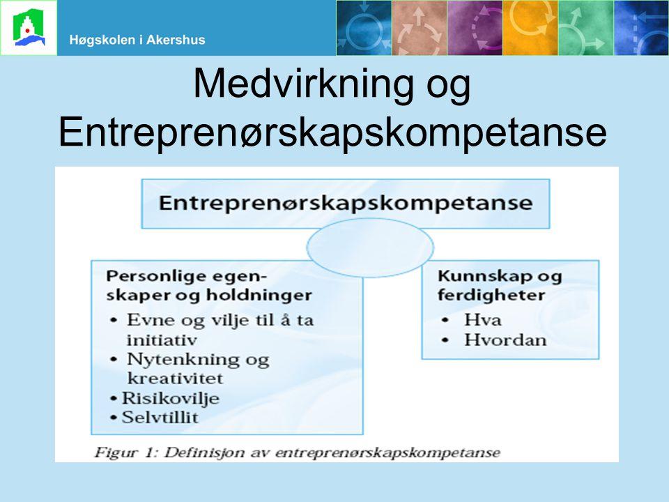Medvirkning og Entreprenørskapskompetanse
