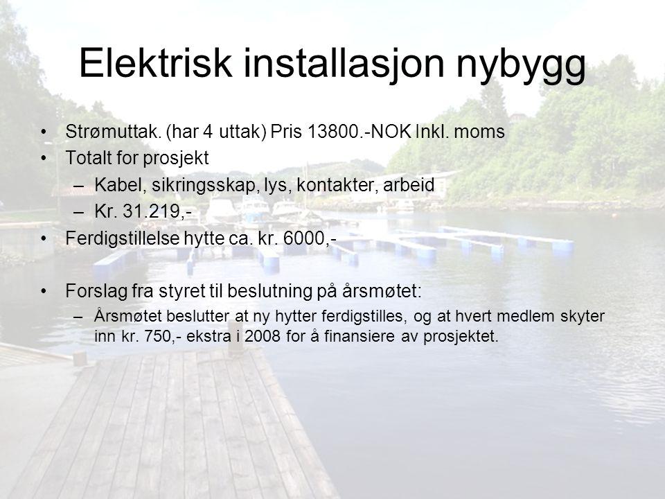 Elektrisk installasjon nybygg