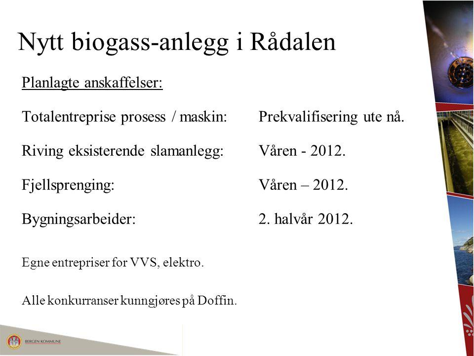 Nytt biogass-anlegg i Rådalen