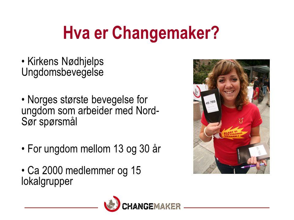 Hva er Changemaker Kirkens Nødhjelps Ungdomsbevegelse