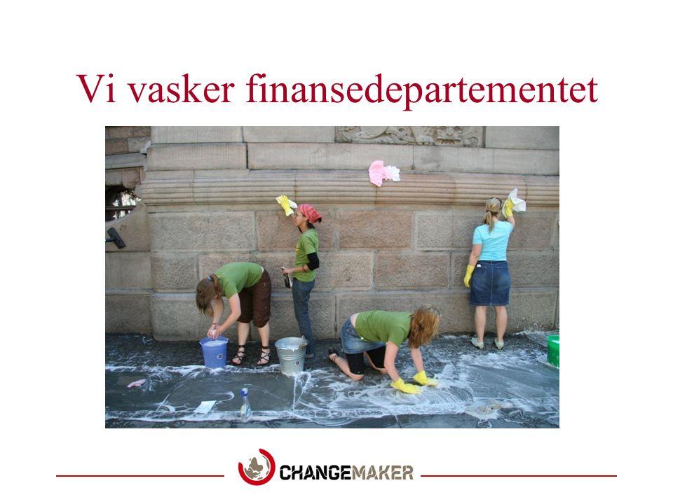 Vi vasker finansedepartementet