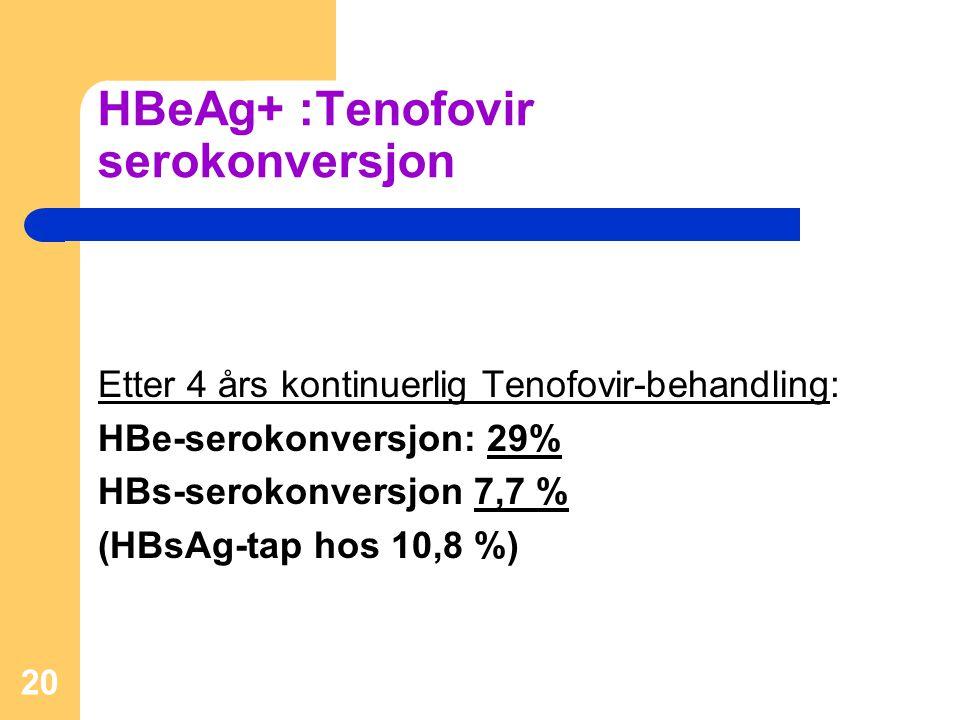 HBeAg+ :Tenofovir serokonversjon
