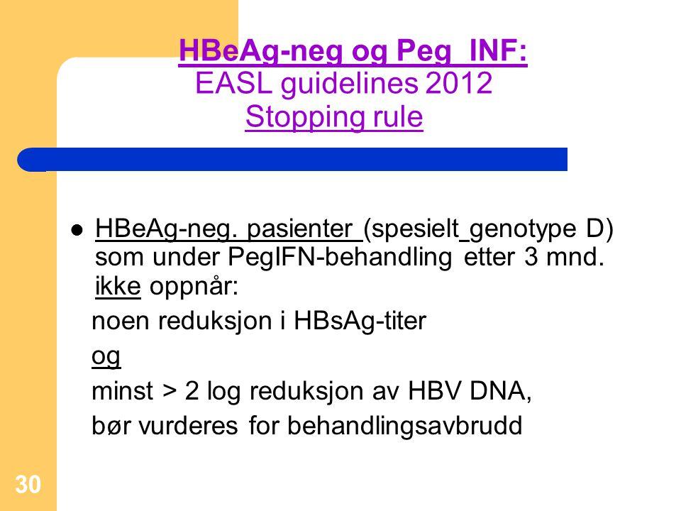 HBeAg-neg og Peg_INF: EASL guidelines 2012 Stopping rule
