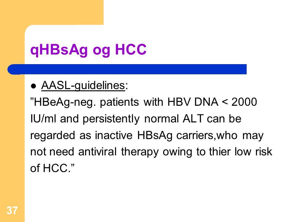 qHBsAg og HCC AASL-guidelines: