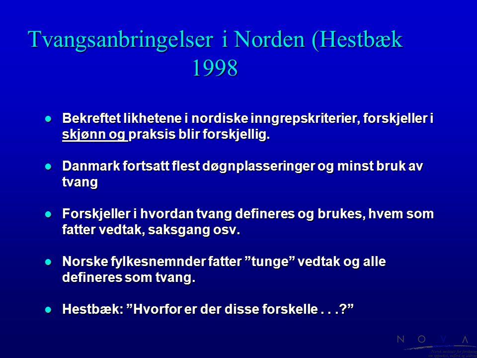 Tvangsanbringelser i Norden (Hestbæk 1998