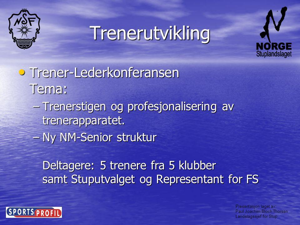 Trenerutvikling Trener-Lederkonferansen Tema: