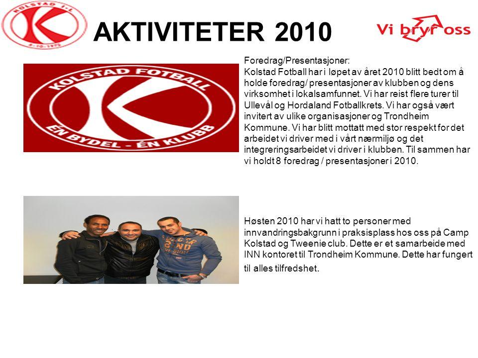 AKTIVITETER 2010 Foredrag/Presentasjoner: