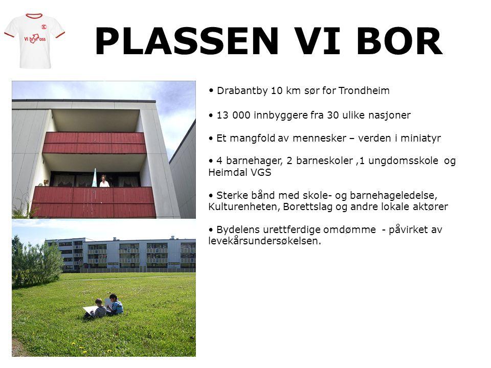 PLASSEN VI BOR Drabantby 10 km sør for Trondheim