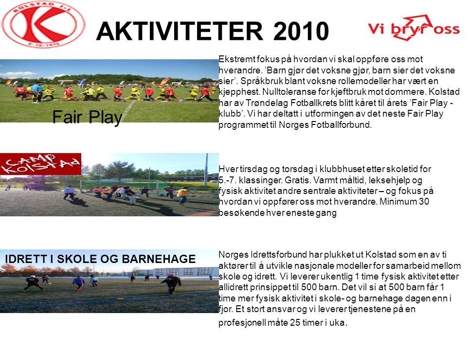 AKTIVITETER 2010 Fair Play IDRETT I SKOLE OG BARNEHAGE