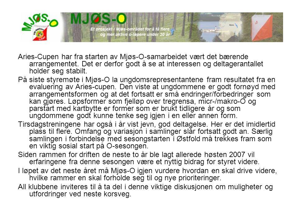Aries-Cupen har fra starten av Mjøs-O-samarbeidet vært det bærende arrangementet. Det er derfor godt å se at interessen og deltagerantallet holder seg stabilt.