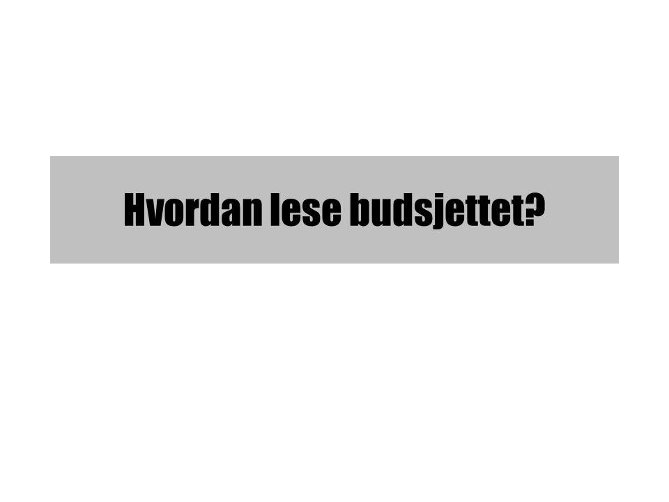Hvordan lese budsjettet