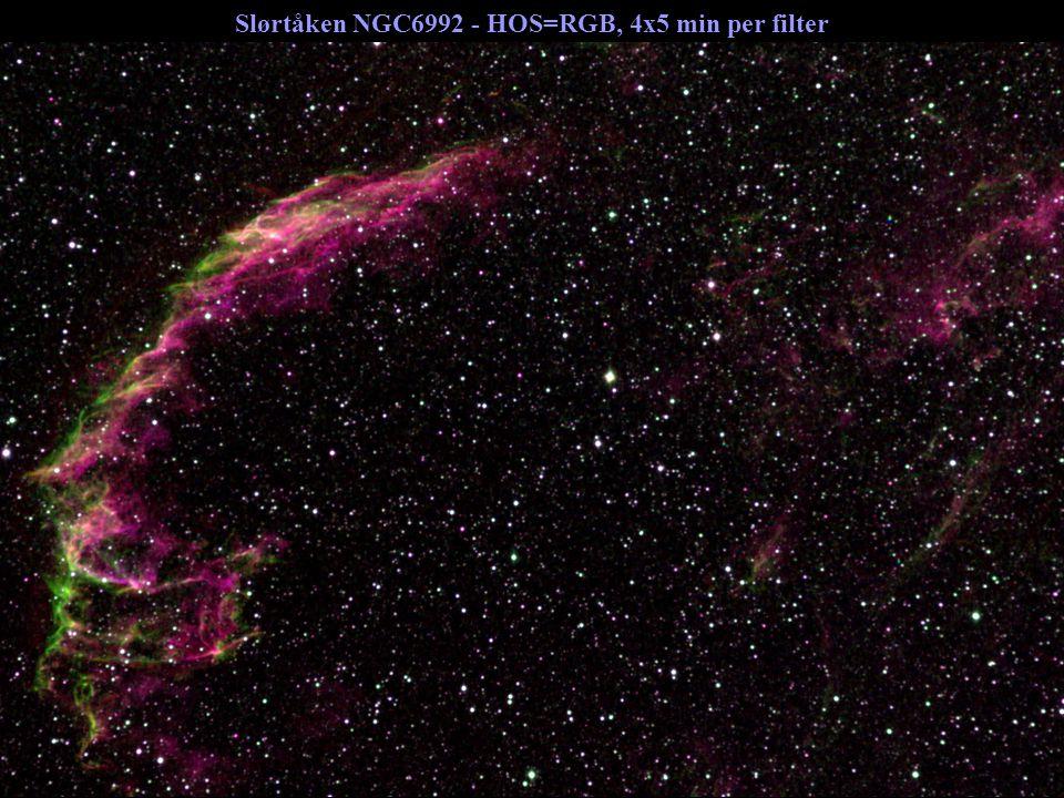 Slørtåken NGC6992 - HOS=RGB, 4x5 min per filter