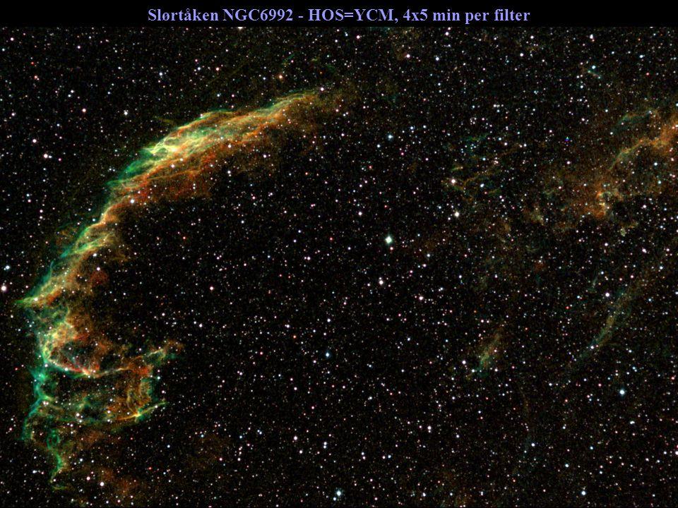 Slørtåken NGC6992 - HOS=YCM, 4x5 min per filter