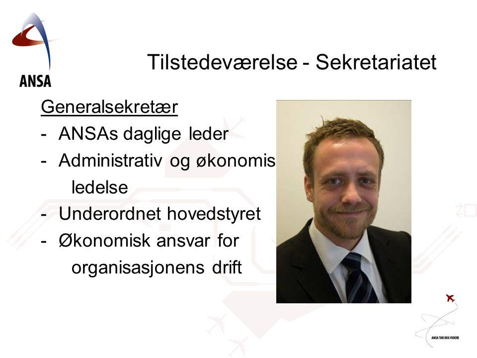 Tilstedeværelse - Sekretariatet