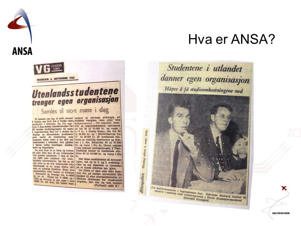 Hva er ANSA *Norske utenlandsstudentenes interesseorganisasjon.