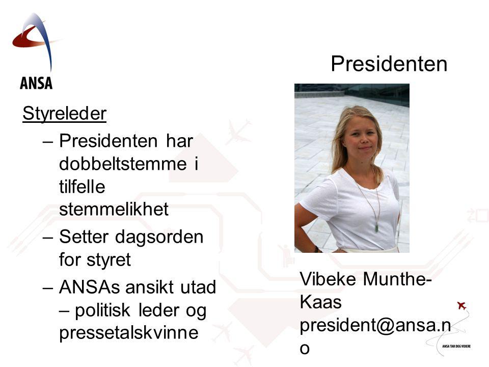 Presidenten Styreleder