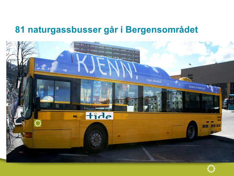 81 naturgassbusser går i Bergensområdet