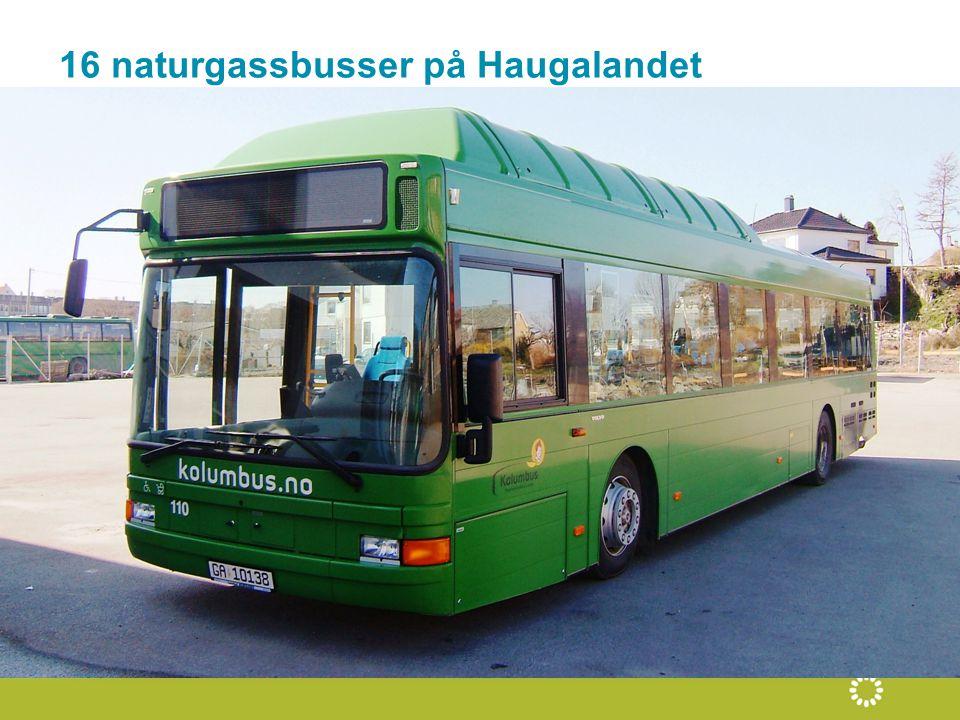 16 naturgassbusser på Haugalandet
