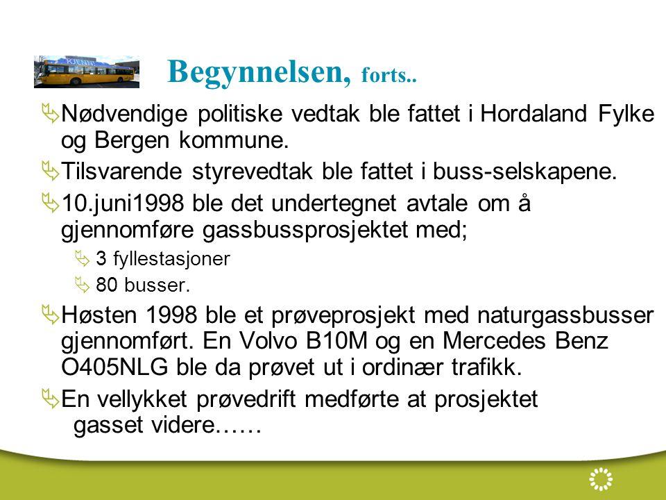 Begynnelsen, forts.. Nødvendige politiske vedtak ble fattet i Hordaland Fylke og Bergen kommune.
