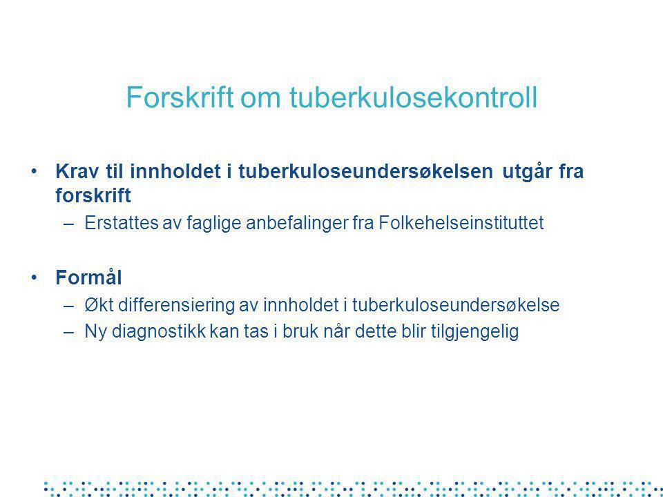 Forskrift om tuberkulosekontroll