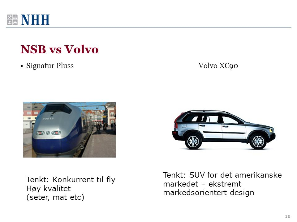 NSB vs Volvo Signatur Pluss Volvo XC90 Tenkt: SUV for det amerikanske