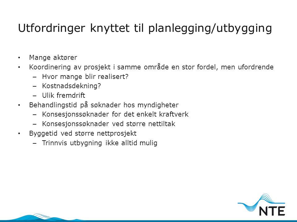 Utfordringer knyttet til planlegging/utbygging