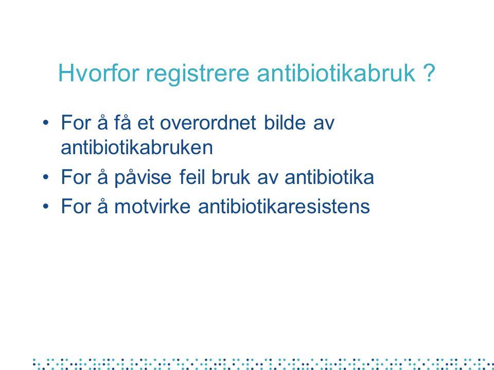 Hvorfor registrere antibiotikabruk