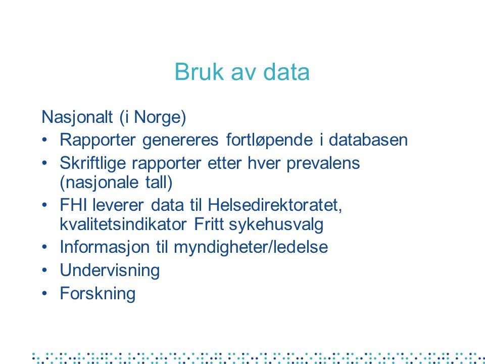 Bruk av data Nasjonalt (i Norge)
