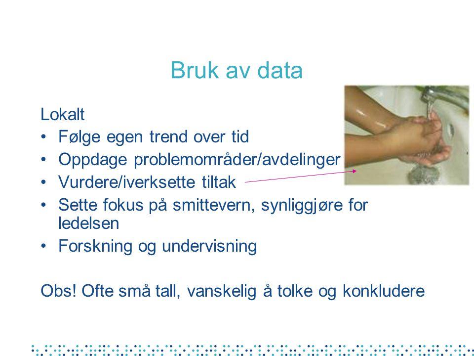 Bruk av data Lokalt Følge egen trend over tid