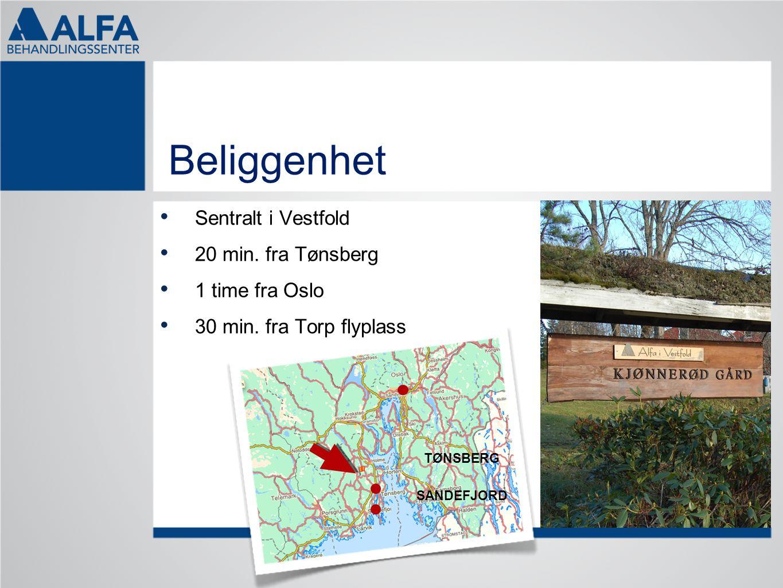Beliggenhet Sentralt i Vestfold 20 min. fra Tønsberg 1 time fra Oslo