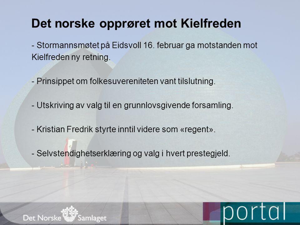 Det norske opprøret mot Kielfreden