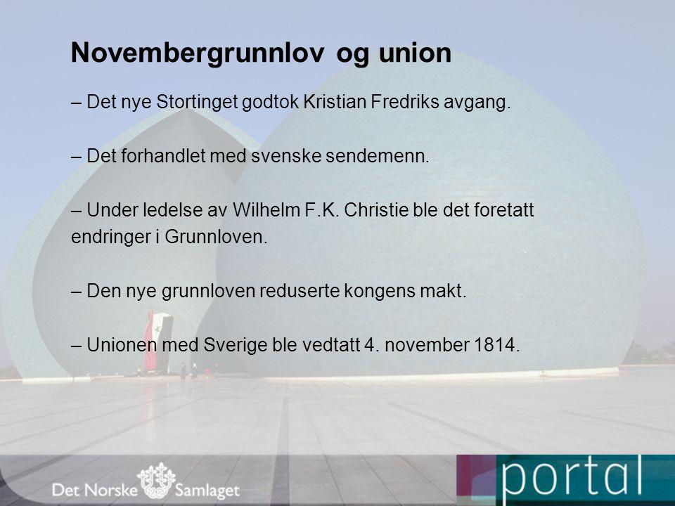 Novembergrunnlov og union