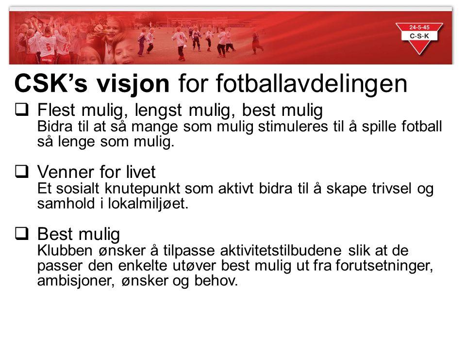 CSK's visjon for fotballavdelingen