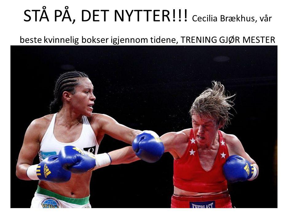STÅ PÅ, DET NYTTER!!.