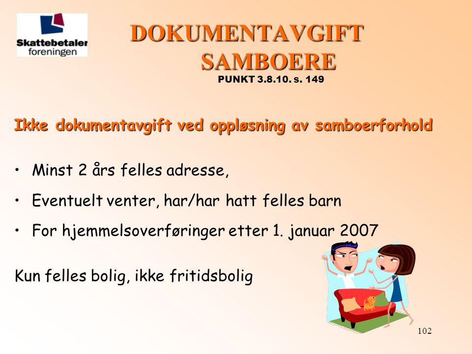 DOKUMENTAVGIFT SAMBOERE PUNKT 3.8.10. s. 149