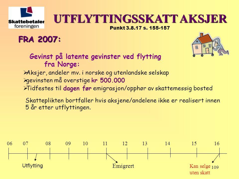 UTFLYTTINGSSKATT AKSJER Punkt 3.8.17 s. 155-157